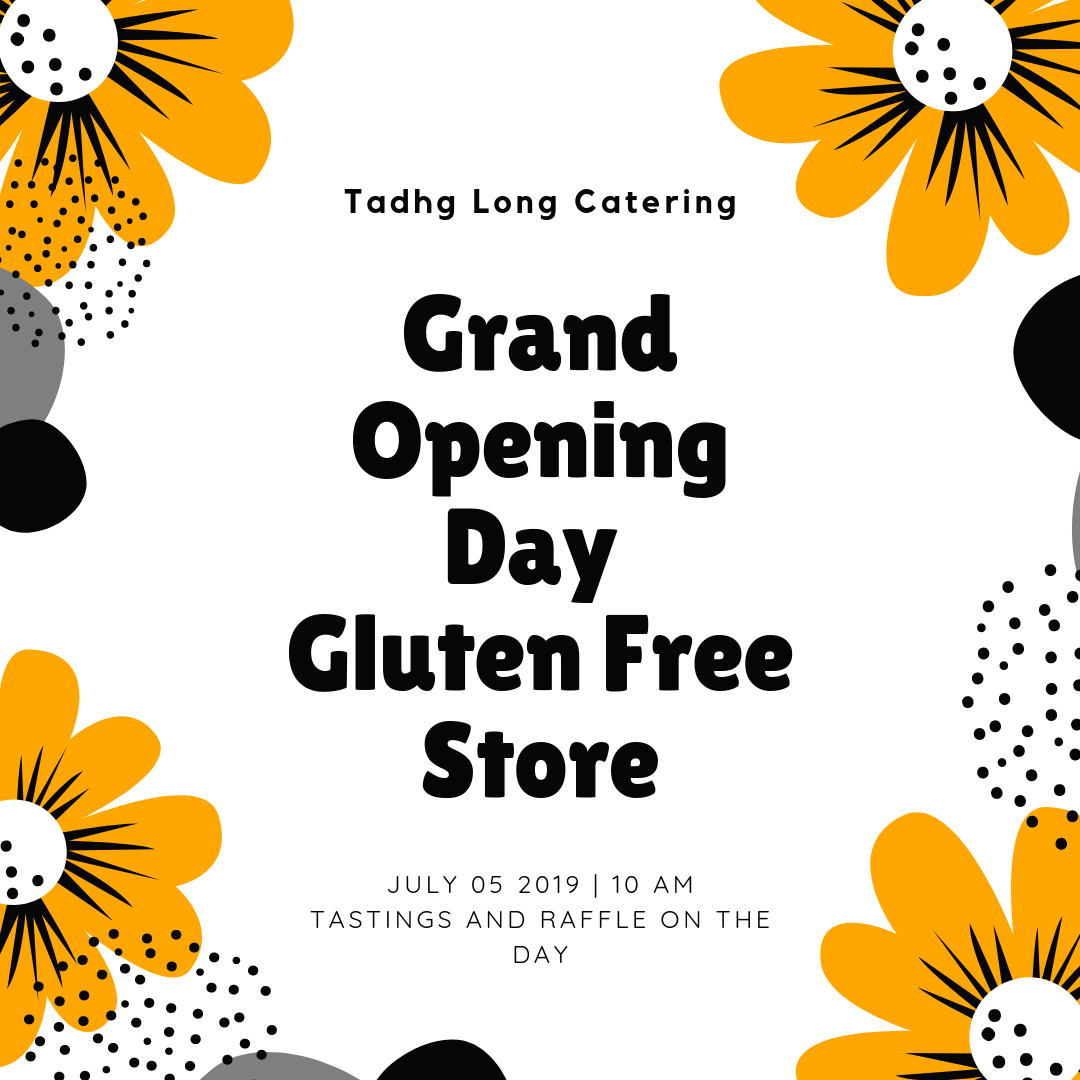 poster of gluten free shop opening
